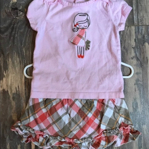 c0af8ad5c Carter's Matching Sets | Carters Sz 9 Months Skirt Set Pink Plaid ...